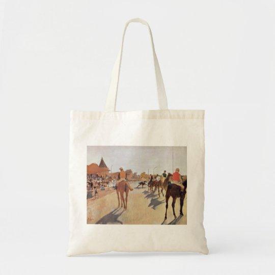 Edgar Degas - 1869-72 Jockeys @ Grand Stand Horse Tote Bag