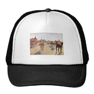 Edgar Degas - 1869-72 Jockeys @ Grand Stand Horse Trucker Hat
