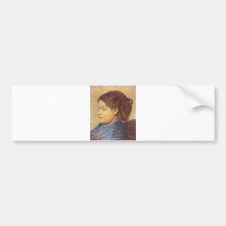 Edgar Degas - 1869 Portrait Ms Dobigny Woman Girl Bumper Sticker