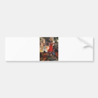 Edgar Degas - 1876-77 Cafe Concert Woman Red Dress Bumper Sticker