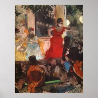 Edgar Degas - 1876-77 Cafe Concert Woman Red Dress Poster