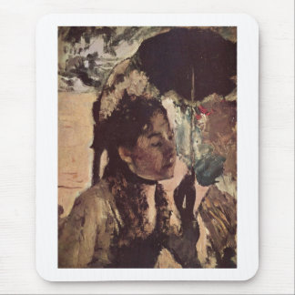 Edgar Degas - 1887-90 Woman w/ Parasol @ Tuileries Mouse Pad