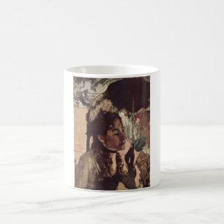 Edgar Degas - 1887-90 Woman w/ Parasol @ Tuileries Classic White Coffee Mug