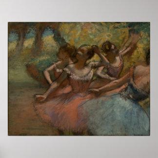 Edgar Degas - 4 Ballerinas on Stage 1885-90 Dancer Poster