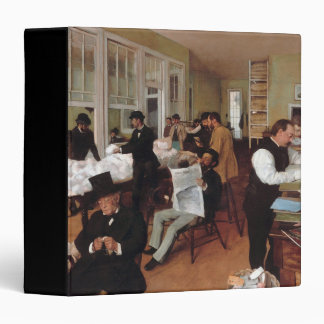 EDGAR DEGAS- A cotton office in New Orleans 1873 3 Ring Binder