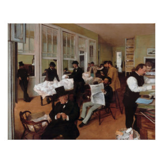EDGAR DEGAS - A cotton office in New Orleans 1873 Poster