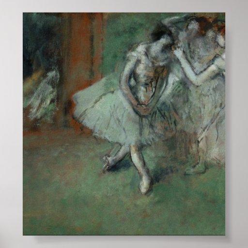 Edgar Degas - A Group of Dancers Poster