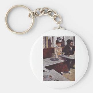 Edgar Degas - Absinthe 1876 man Woman Cafe oil Keychain