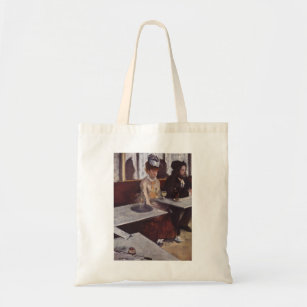 Edgar Degas - Absinthe 1876 man Woman Cafe oil Tote Bag