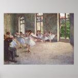 Edgar Degas - aceite de la clase 1873 del ensayo d Poster