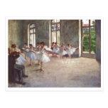 Edgar Degas - aceite de la clase 1873 del ensayo d Tarjeta Postal