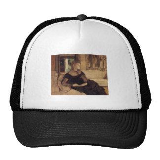 Edgar Degas - aceite de señora Théodore Gobillard Gorro