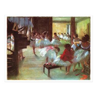 Edgar Degas - aceite del bailarín de la escalera d Tarjetas Postales