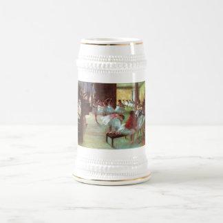 Edgar Degas - aceite del bailarín de la escalera d Jarra De Cerveza
