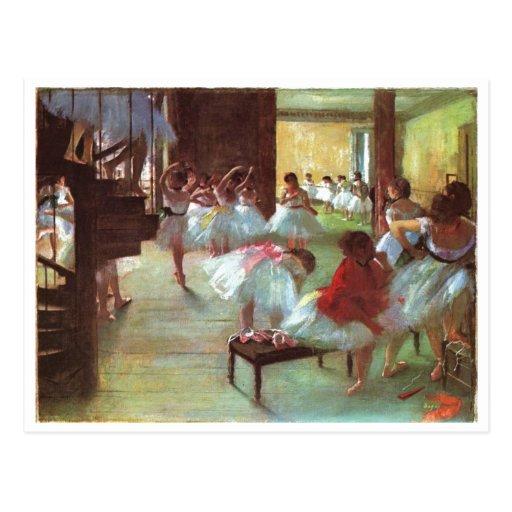 Edgar Degas - aceite del bailarín de la escalera Postal