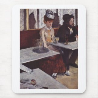 Edgar Degas - aceite del café de la mujer del Alfombrilla De Raton
