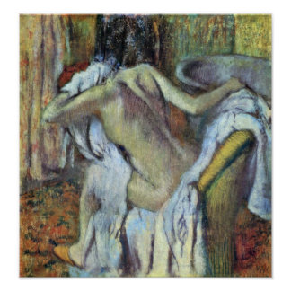 Edgar Degas - After the bath to dry wife Poster