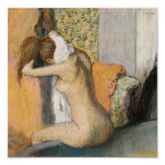 Edgar Degas | After the Bath, Woman Drying Neck Poster