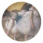 Edgar Degas antes del ensayo Platos Para Fiestas