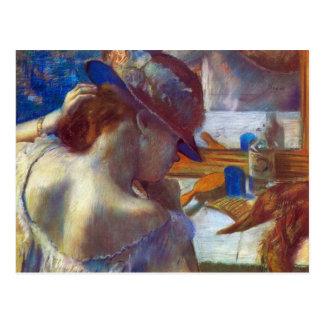 Edgar Degas - antes del espejo Tarjeta Postal