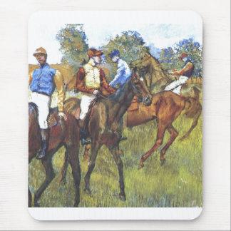 Edgar Degas - árboles Rennpferde del jinete de los Alfombrilla De Ratón