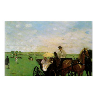 Edgar Degas - At country Races 1872 Horse Scape Poster