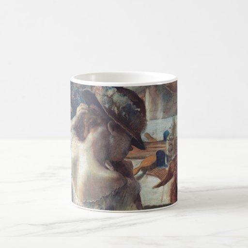 Edgar Degas - At Mirror 1899 Pastel Paper dancer Mug