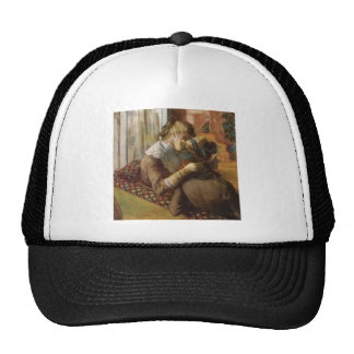 Edgar Degas - At the Milliners 1881 Pastel paper Trucker Hat