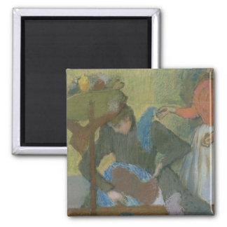 Edgar Degas   At the Milliner's, c.1898 2 Inch Square Magnet