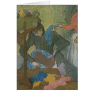 Edgar Degas   At the Milliner's, c.1898 Card
