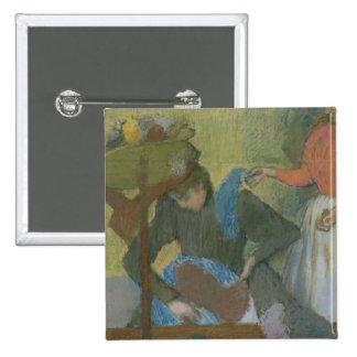 Edgar Degas   At the Milliner's, c.1898 Pinback Button