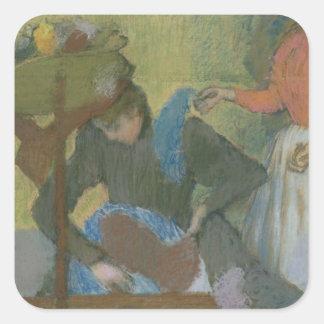 Edgar Degas   At the Milliner's, c.1898 Square Sticker