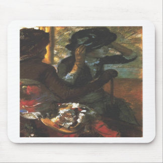 Edgar Degas - At the Millinery Woman Hat Mouse Pad