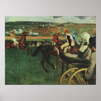 Edgar Degas - At the Races 1877-1880 Horse Jockey Poster