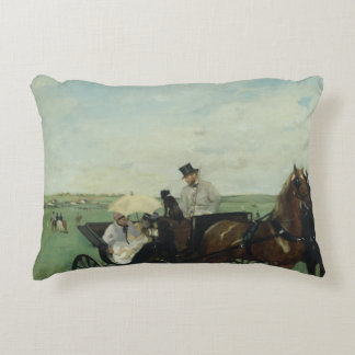 Edgar Degas – At the Races in the Countryside Decorative Pillow