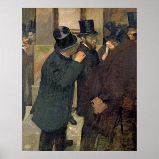 Edgar Degas   At the Stock Exchange, c.1878-79 Poster