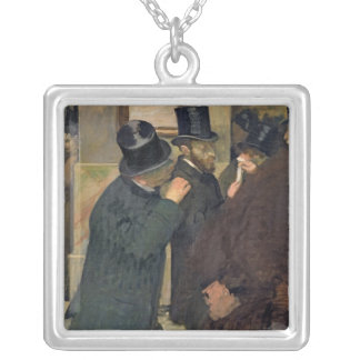 Edgar Degas | At the Stock Exchange, c.1878-79 Silver Plated Necklace