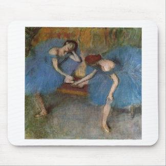 Edgar Degas - bailarín azul del Redhead del tutú Tapete De Raton