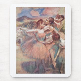 Edgar Degas - bailarín en chicas rosados del Alfombrillas De Raton