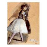 Edgar Degas - bailarín en la posición del paso Tarjetas Postales