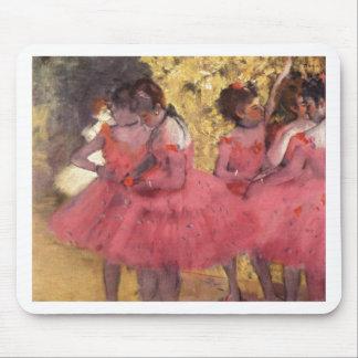 Edgar Degas - bailarín en rosa en aceite del ala 1 Tapete De Ratones