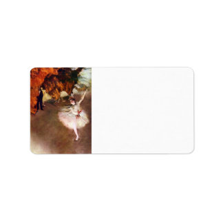 Edgar Degas - bailarina de Prima Etiquetas De Dirección