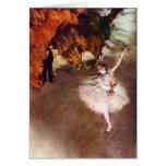 Edgar Degas - bailarina de Prima Tarjeta