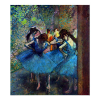 Edgar Degas - bailarinas Póster