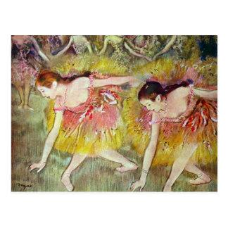 Edgar Degas - bailarines de ballet Postales