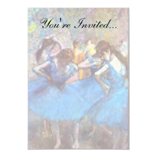 """Edgar Degas - bailarines en azul Invitación 5"""" X 7"""""""