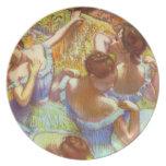 Edgar Degas - bailarines en azul Plato De Cena