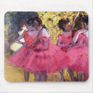 Edgar Degas - bailarines en rosa entre las escenas Alfombrilla De Ratón