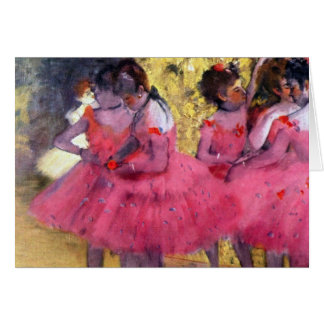 Edgar Degas - bailarines en rosa entre las escenas Felicitaciones