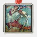 Edgar Degas - bailarines en verde Adorno De Navidad
